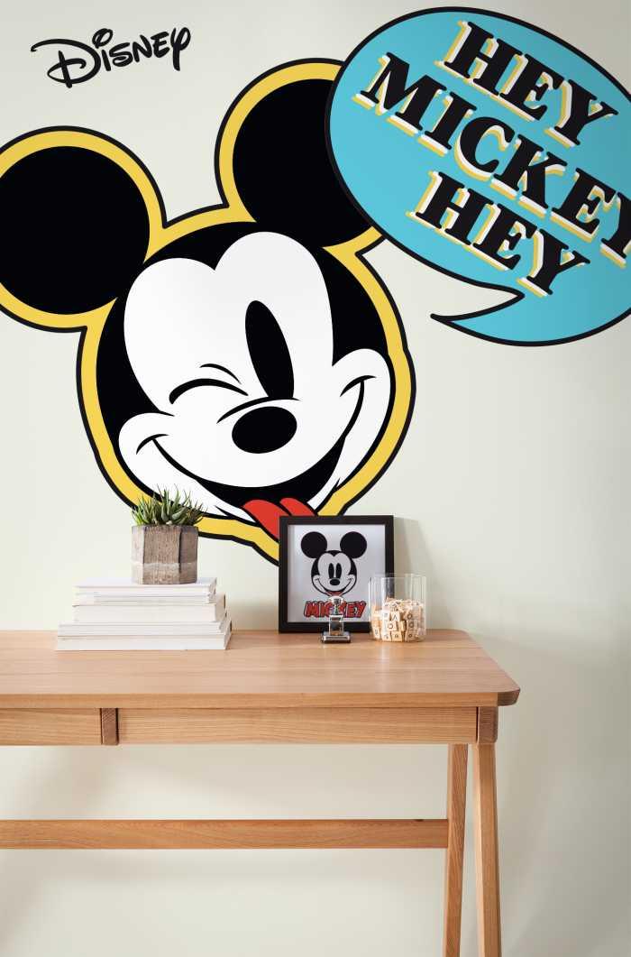 Sticker mural Mickey Hey XXL