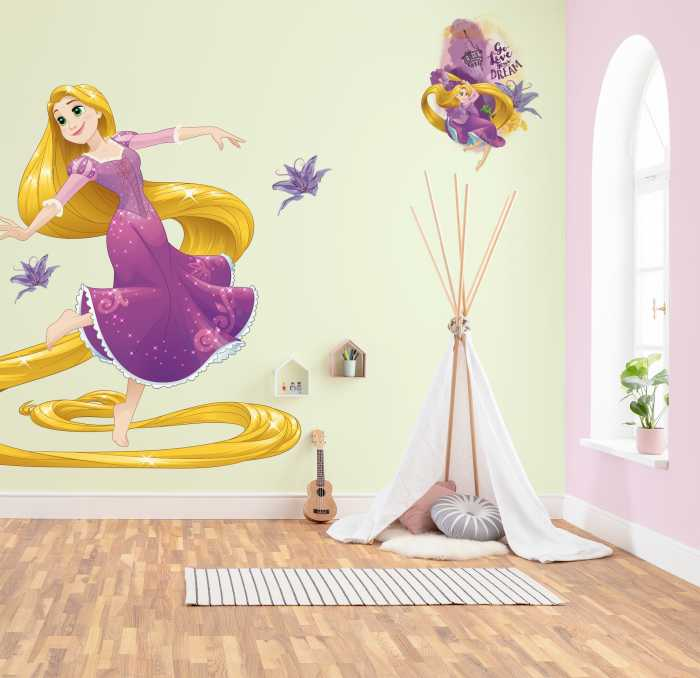 Sticker mural Rapunzel XXL