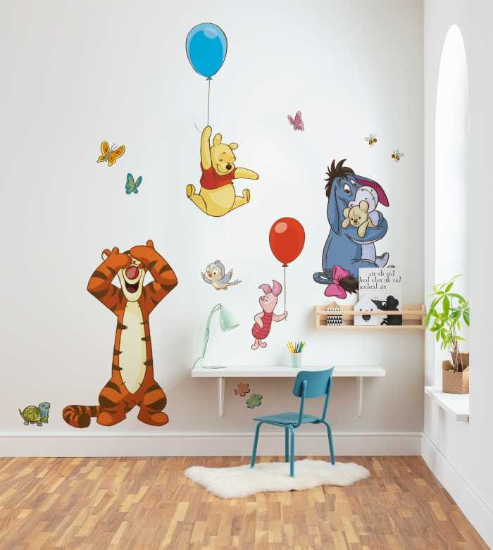 Sticker mural Winnie and Friends XXL
