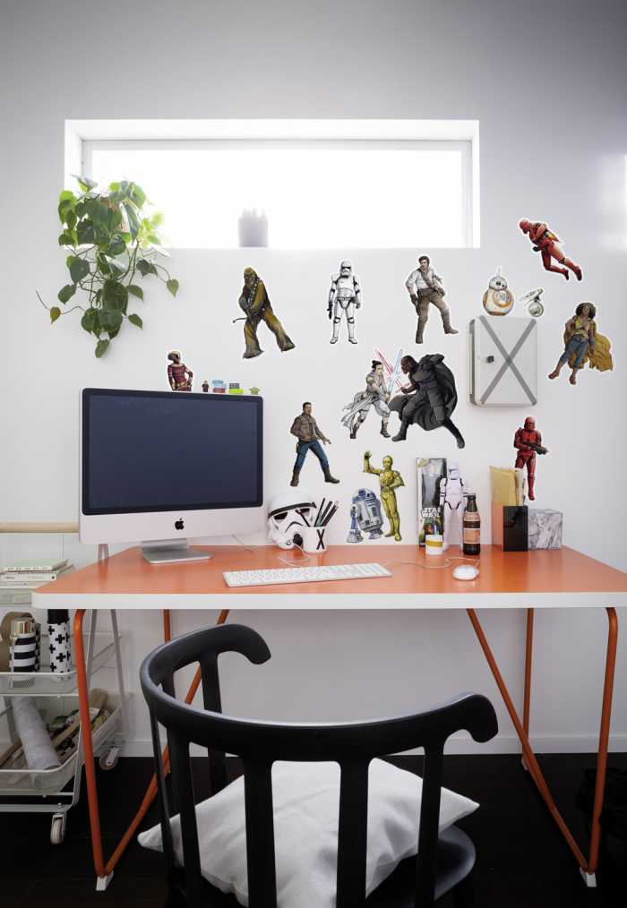 Sticker mural Star Wars Heroes Villains