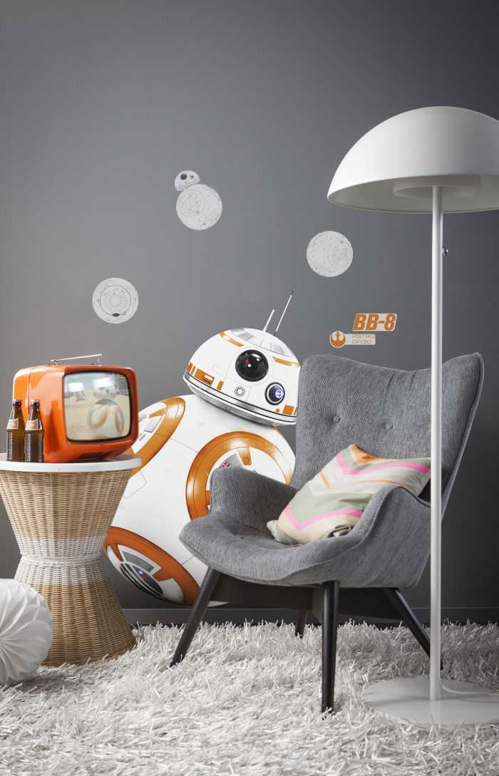 Sticker mural Star Wars BB-8