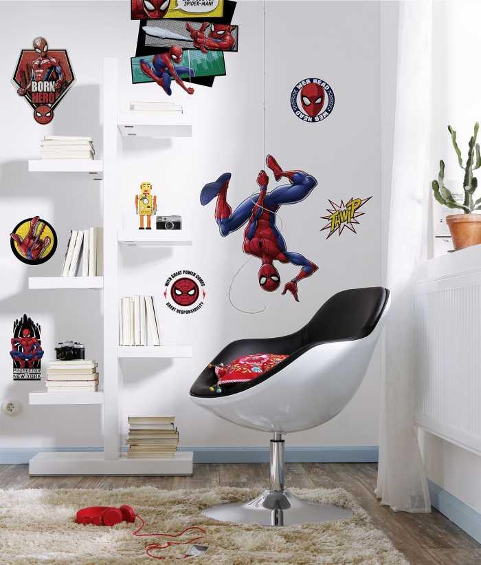 Sticker mural Spider-Man Web Head