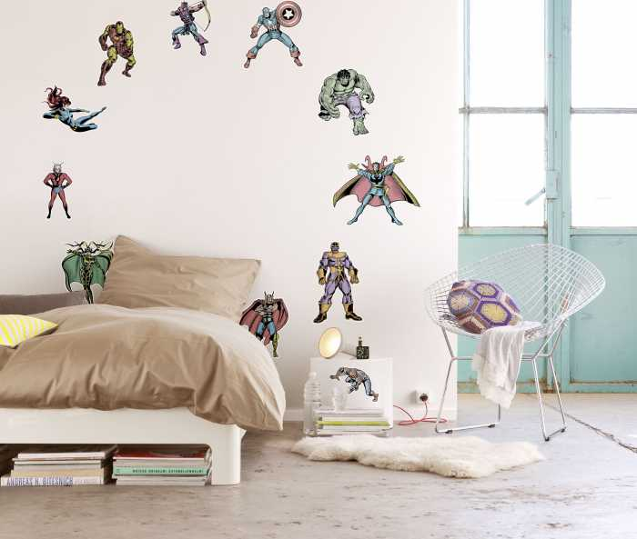 Sticker mural Marvel Comics Collection