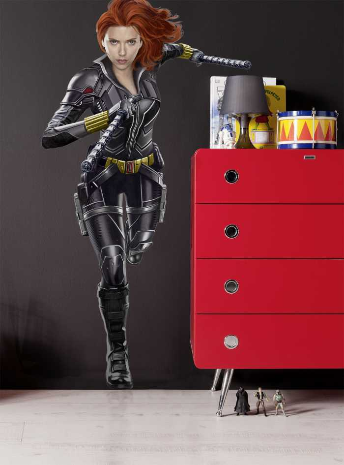 Sticker mural Black Widow Run