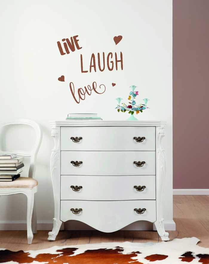 Sticker mural Live Laugh Love