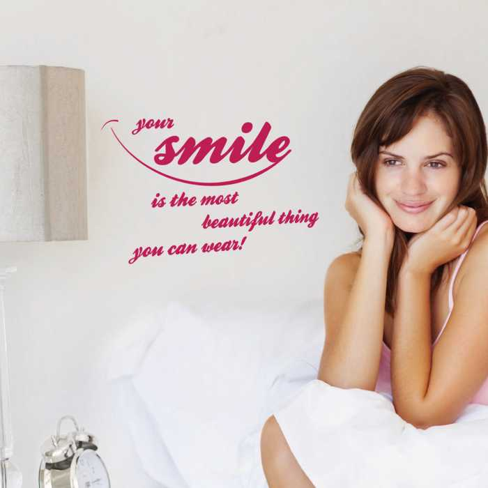 Sticker mural Your smile