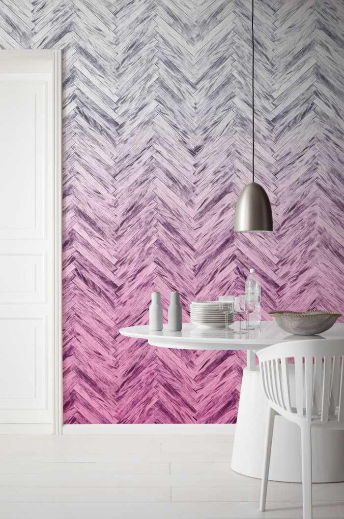Poster XXL impression numérique Herringbone Pink
