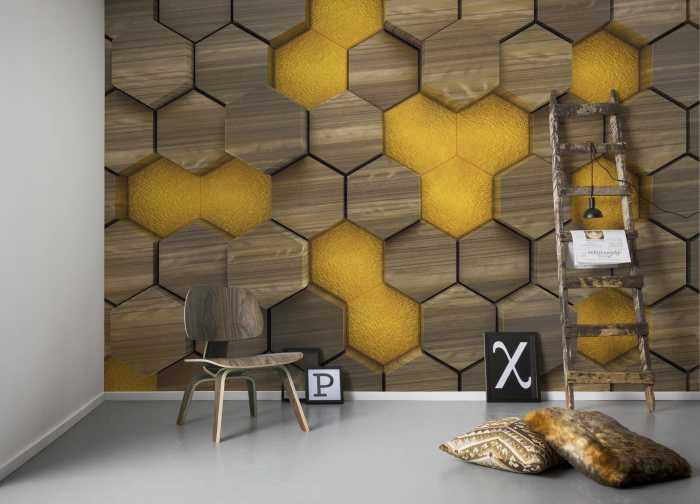 Poster XXL impression numérique Woodcomb Olive