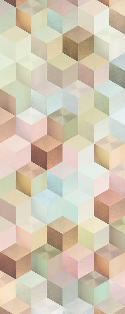 Panneau sur intissé  Cubes Panel