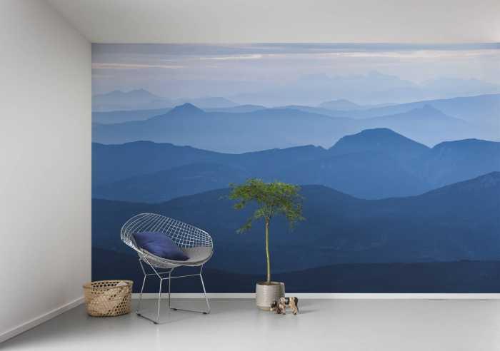 Poster XXL impression numérique Blue Mountain