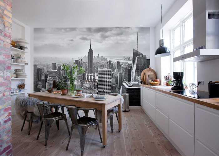 Photo murale NYC black and white
