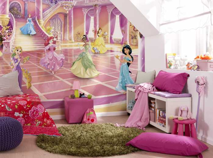 Photo murale Disney Princess Glitzerparty