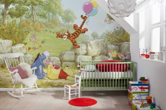 Photo murale Winnie Pooh Ballooning