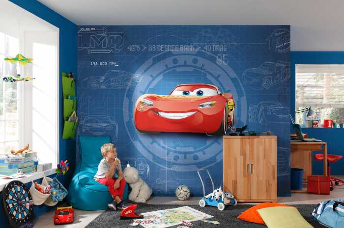 Photo murale Cars3 Blueprint