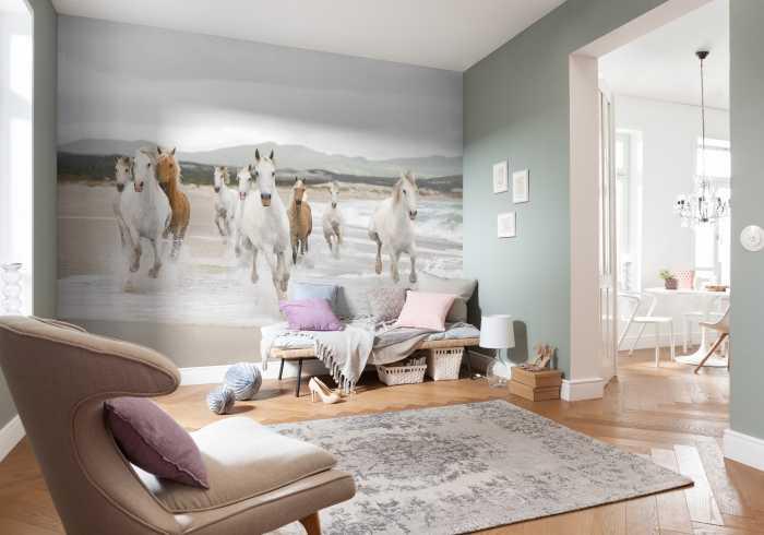 Photo murale White Horses