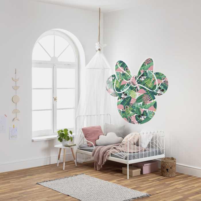 Sticker mural Minnie Head Tropical