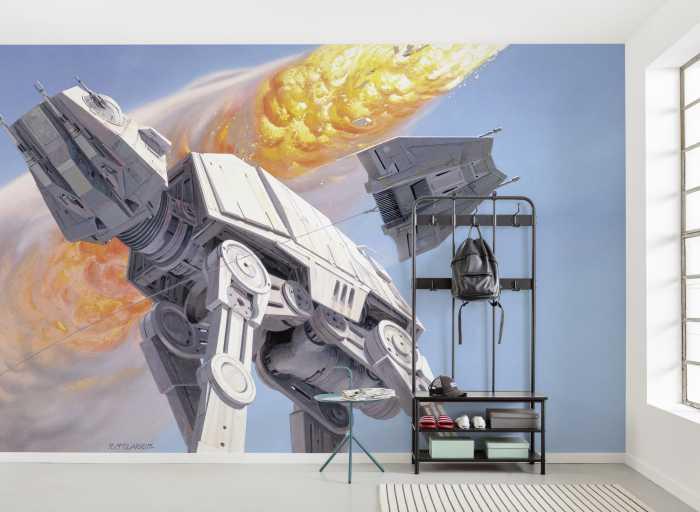 Poster XXL impression numérique Star Wars Classic RMQ Hoth Battle AT-AT