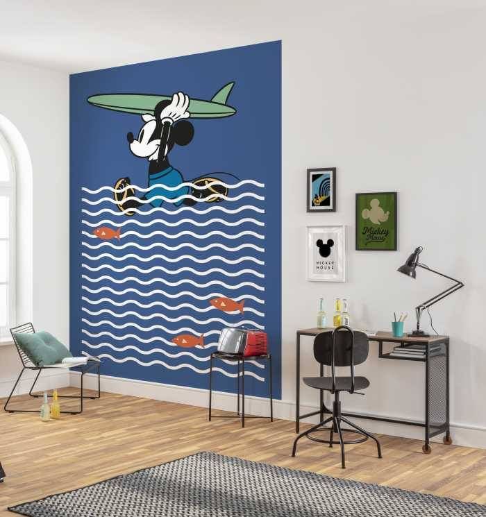 Poster XXL impression numérique Mickey gone Surfin'