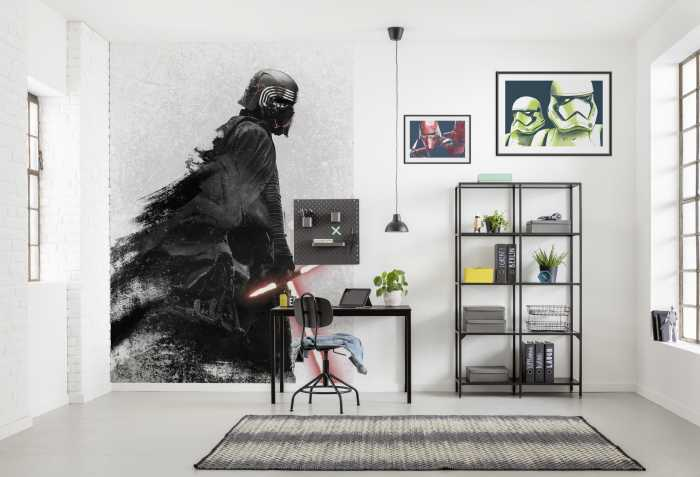 Poster XXL impression numérique Star Wars Kylo Vader Shadow
