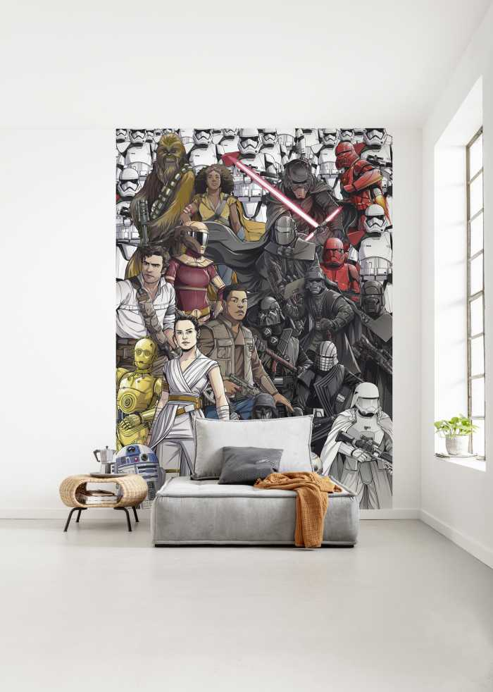 Poster XXL impression numérique Star Wars Retro Cartoon