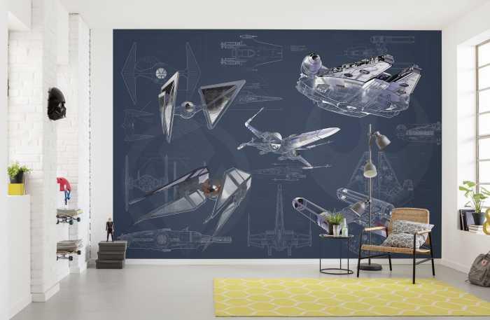 Poster XXL impression numérique Star Wars Blueprint Dark
