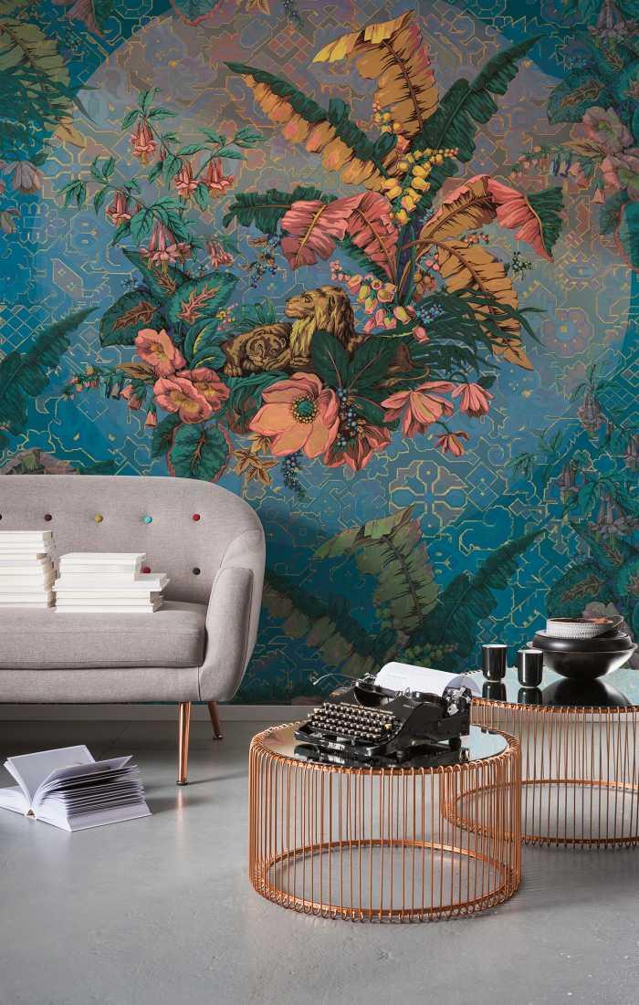 Poster XXL impression numérique Orient Bleu