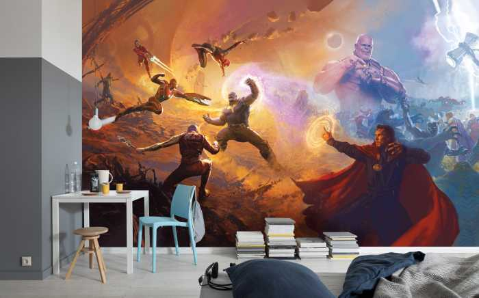 Poster XXL impression numérique Avengers Epic Battles Two Worlds