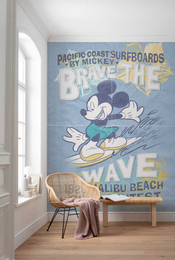 Poster XXL impression numérique Mickey Brave the Wave