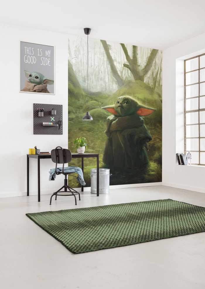 Poster XXL impression numérique Mandalorian Grogu Acrylic