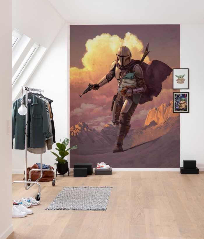 Poster XXL impression numérique Mandalorian Escape