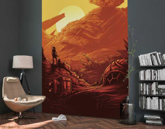 Poster XXL impression numérique Star Wars Jakku Star Destroyer