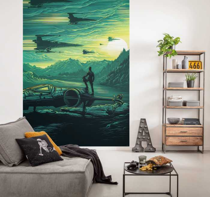 Poster XXL impression numérique Star Wars X-Wing Assault Takodana