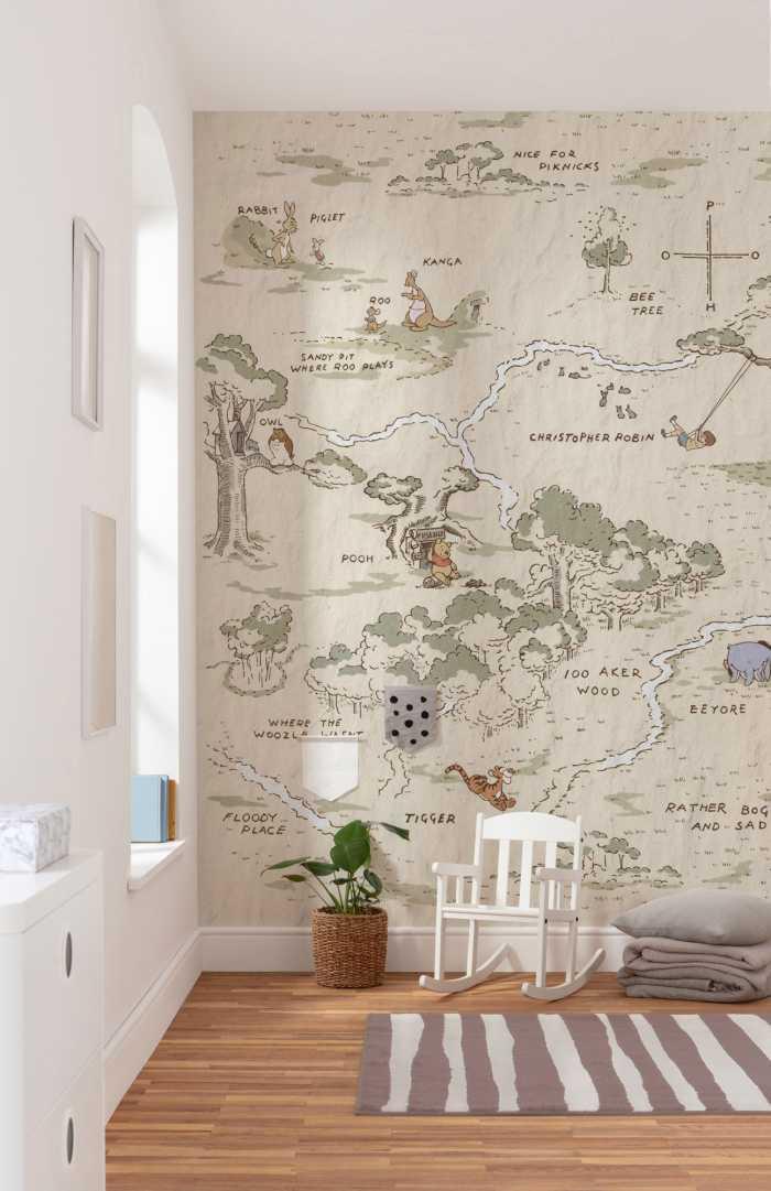 Poster XXL impression numérique Winnie Pooh Map