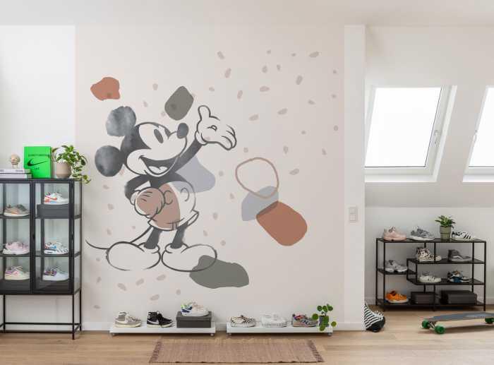 Poster XXL impression numérique Mickey Organic Shapes