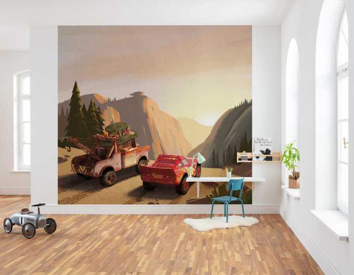 Poster XXL impression numérique Cars Sundown