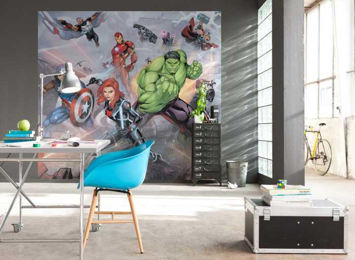 Poster XXL impression numérique Avengers Street Revenge