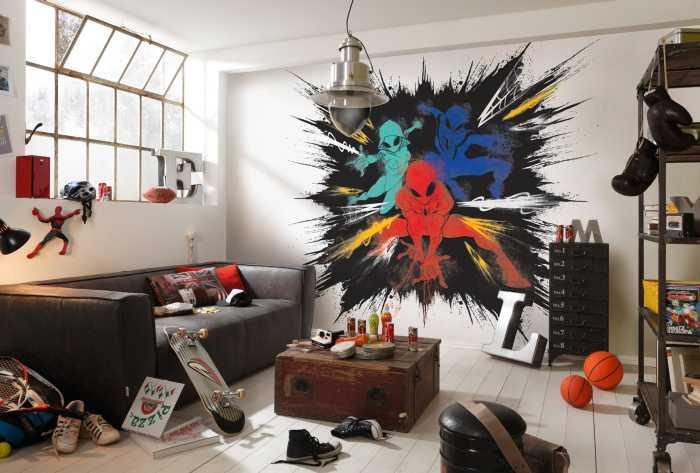 Poster XXL impression numérique Spider-Man Color Explosion