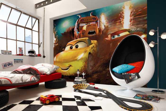 Poster XXL impression numérique Cars Dirt Track