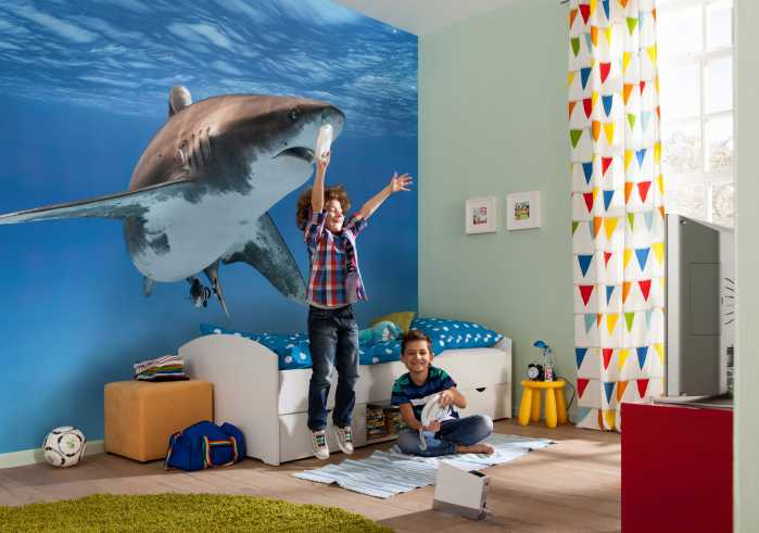 Poster XXL impression numérique Great White Shark