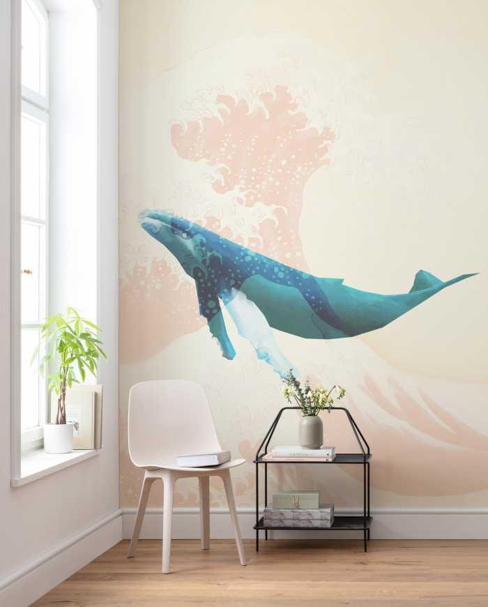 Poster XXL impression numérique Whale Voyage