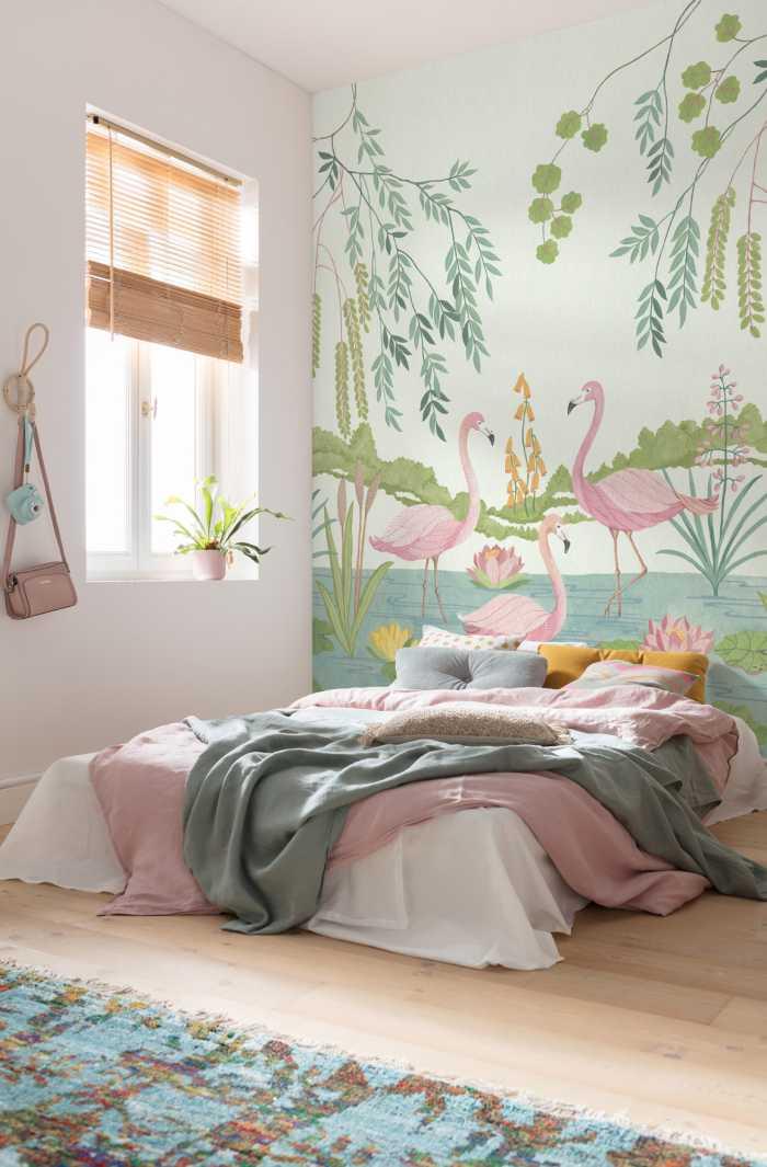 Poster XXL impression numérique Flamingo Vibes