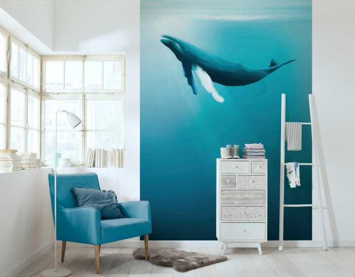 Poster XXL impression numérique Artsy Humpback Whale