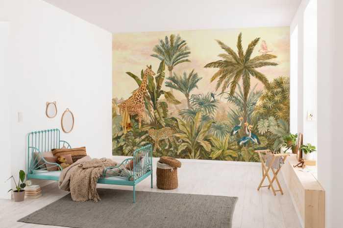Poster XXL impression numérique Tropical Vintage Garden