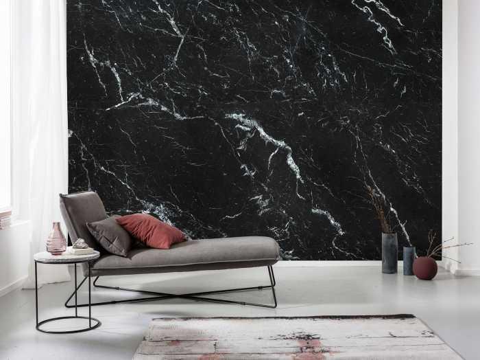 Poster XXL impression numérique Marble Nero