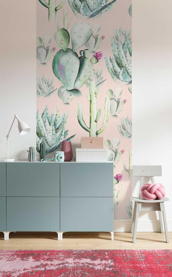 Poster XXL impression numérique Cactus Rose