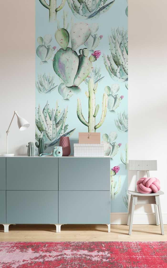 Poster XXL impression numérique Cactus Blue