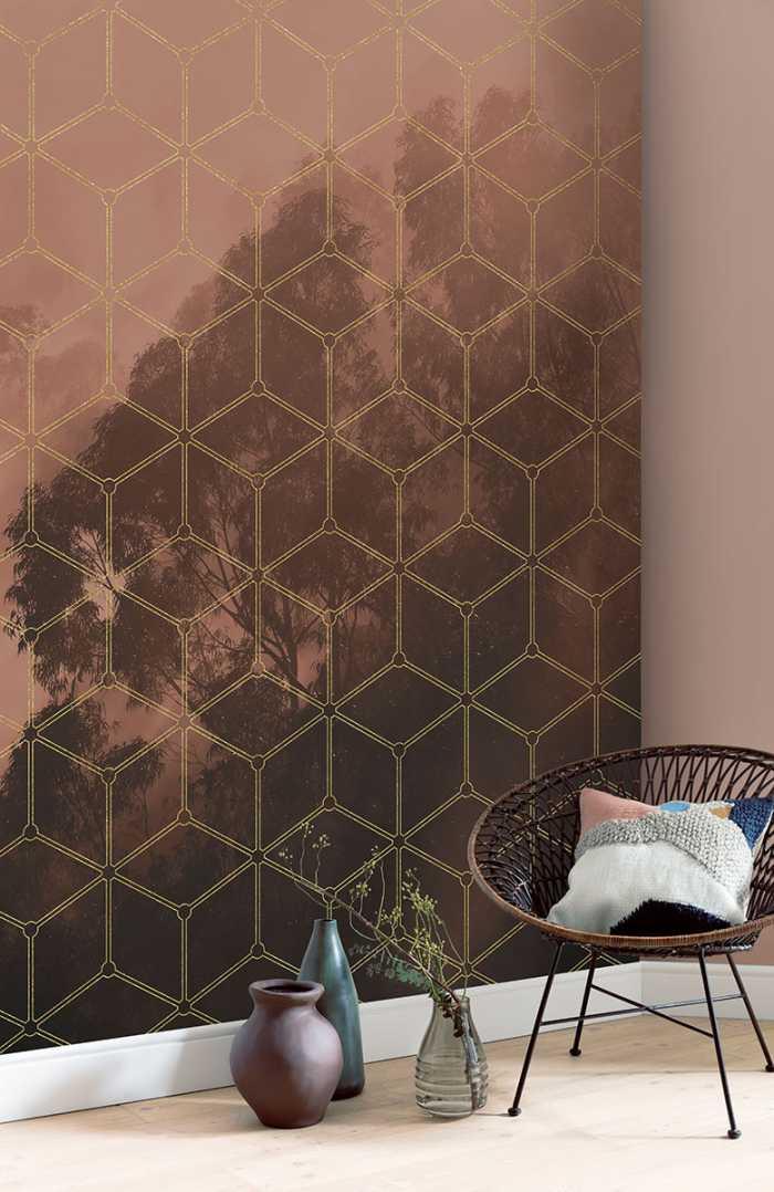 Poster XXL impression numérique Golden Grid