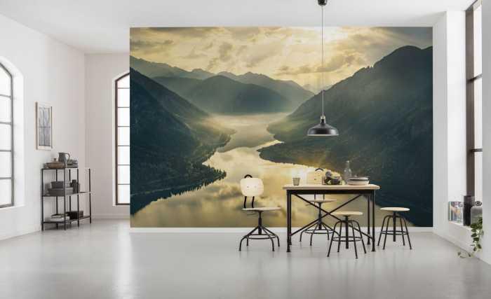 Poster XXL impression numérique Gold Mountains
