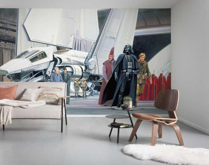 Poster XXL impression numérique Star Wars Classic RMQ Death Star Shuttle Dock