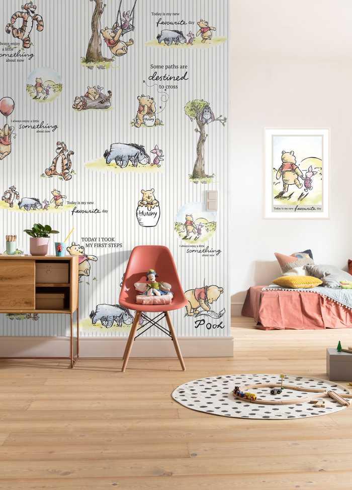 Poster XXL impression numérique Winnie Pooh - Stripes